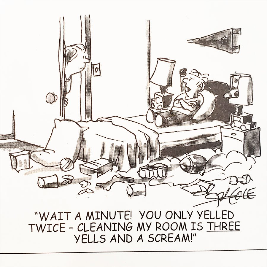 """An comic image from the book """"Are Your Kids Driving You Nuts?"""" by James J. Jones, PhD"""