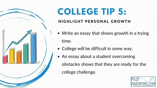 Tip 5 Highlight personal growth in your essay