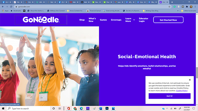 The website gonoodle.